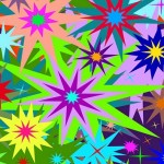 Stars Bursting Pop Art Print By SisterFace Designs Hawaii