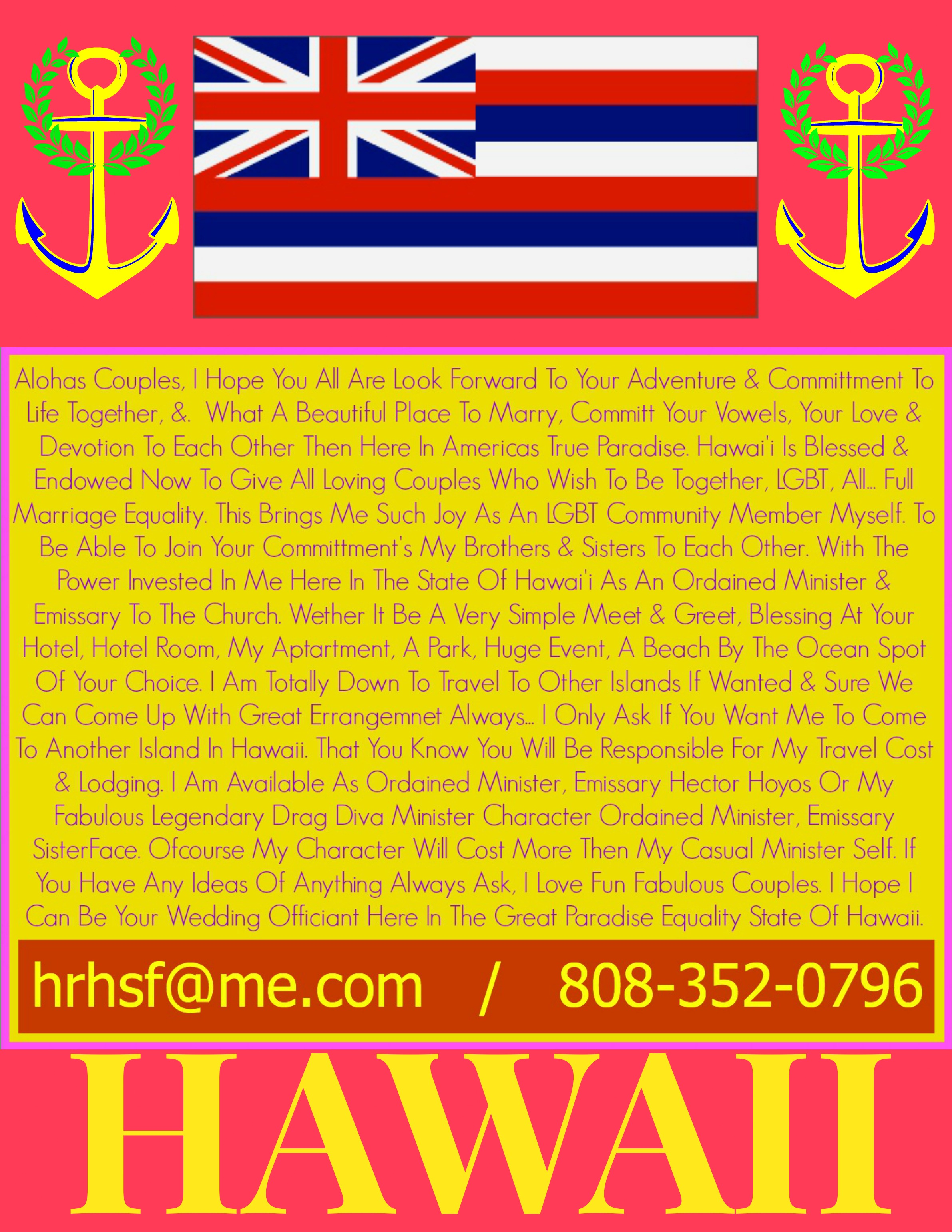 Wedding Information, LGBT Weddings In Hawaii, All Weddings, Hawaii LGBT Weddings Minister