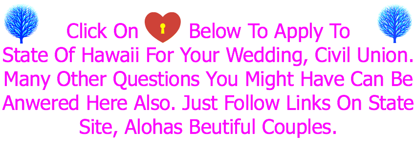 Minsitry Information, Wedding Register, Hawaii LGBT & All Weddings