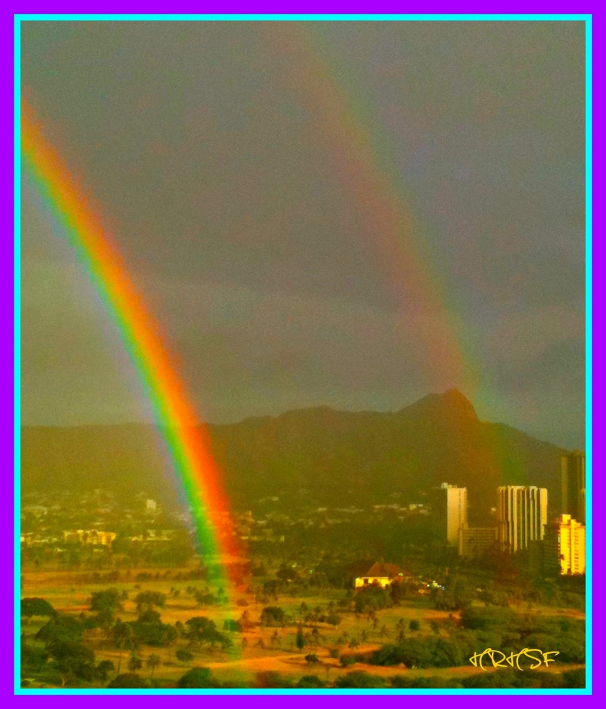 Double Rainbows, Waikiki, HRHSF Photo